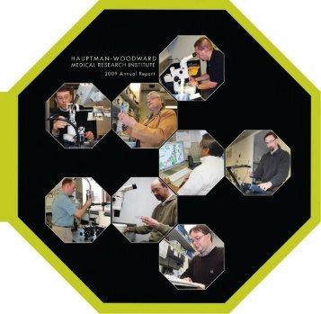 Annual 2009 - Hauptman Woodward Institute - University at Buffalo