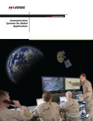 Communications Systems for Global Applications Brochure - Harris ...