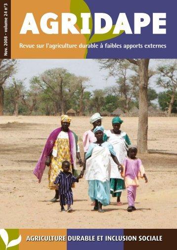 agriculture durable et inclusion sociale - AgriCultures Network