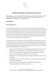 Aktuelle Entwicklungen im Internationalen ... - Grenzenlos Recht