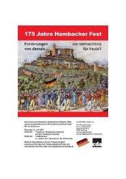 175 Jahre Hambacher Fest 1832 - 2007