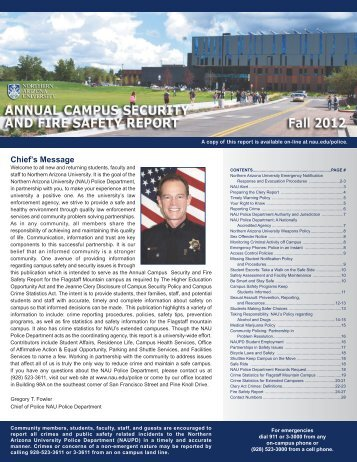 2012 Clery Report - www4 - Northern Arizona University