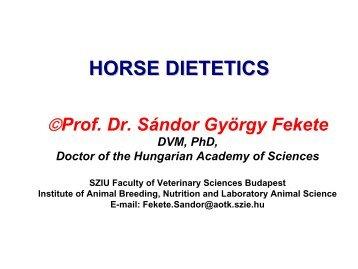 horse dietetics - Dietvet-Holistic Bevezetés