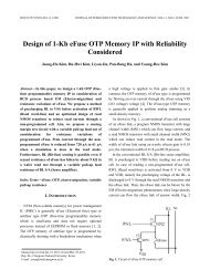 Design of 1-Kb eFuse OTP Memory IP with Reliability ... - Jsts.org