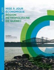 Mise à jour économique - Avril 2011 - Québec International