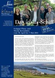 Prospekt klang-Schiff_2011 - Godi Betschart Touristik