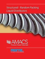 Structured - Random Packing - Amacs Process Towers Internals