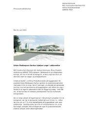 Læs pressemeddelelse (pdf) - Urban Mediaspace Aarhus