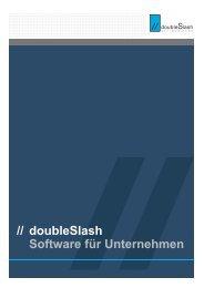 Kurzportrait des Unternehmens (PDF) - doubleSlash
