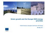Green Growth in the Baltic Sea Region towards Europe 2020