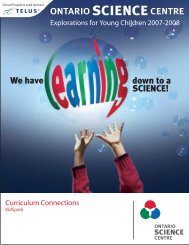 Download KidSpark Curriculum Connections - Ontario Science Centre