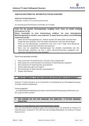 Gebrauchsinformation Ambroxol 75 retard Heumann