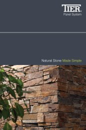 Tier Stone Cladding brochure - Build It Green