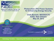 Photovoltaic (PV) Power Systems for Enhancing Energy ... - NDCEE