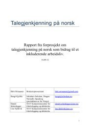 Et inkluderende arbeidsliv med talegjenkjenning (pdf) - InfoShare ...