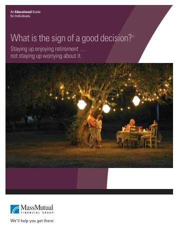 Good Decisions Brochure - MassMutual