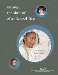Making the Most of After-School Time - National Association of ...