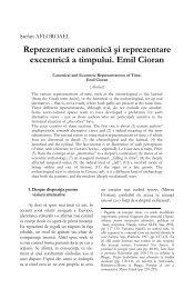 Reprezentare canonică şi reprezentare excentrică a ... - Hermeneia