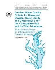 Ambient Water Quality Criteria - Chesapeake Bay Program