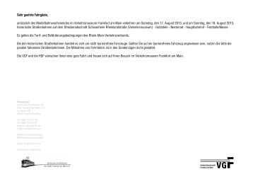 Fahrplan Pendelverkehr Schwanheim - Festhalle/Messe - HSF