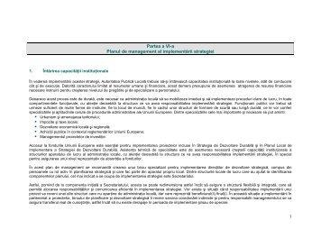 Plan de management al implementării strategiei - Primăria ...