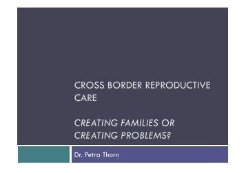 Cross-Border Reproductive Tourism (Petra Thorn) - iCSi