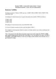 Exercice 1 (VHDL)