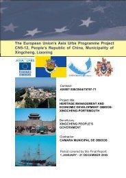 'Heritage Managament and Economic Development',Final Report