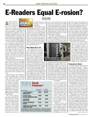 E-readers Equal E-rosion - Book Printing Outlook - Ipex