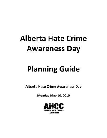 Alberta Hate Crime Awareness Day - Alberta Hate Crimes Committee