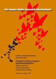 Opinto-opas 2006-2007, Tekniikka, Ympäristöteknologian ...