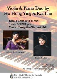 Violin & Piano Duo by Ho Hong Ying & Eva Lue