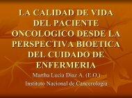 Calidad de Vida y Enfermería.pdf - Instituto Nacional de Cancerología