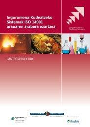 Ingurumena Kudeatzeko Sistemak ISO 14001 arauaren ... - Ihobe