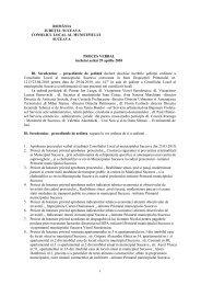 Proces verbal din 29 aprilie 2010 - Primăria Municipiului Suceava