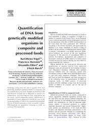 Quantification of DNA from genetically modified organisms in ...