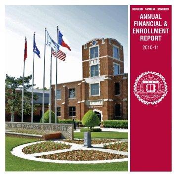 Annual Report 2010 - Southern Nazarene University