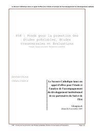Le Secours Catholique lance un appel d'offres pour l'étude et l ... - F3E