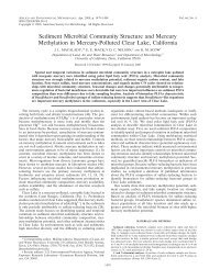 Sediment Microbial Community Structure and Mercury Methylation ...