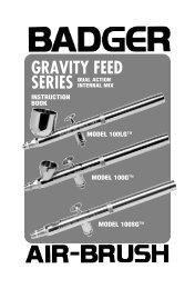 model 100 lg gravity feed - Badger Airbrush