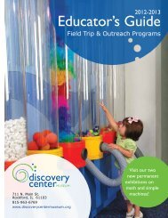 2012-13 Educator's Guide - Discovery Center Museum