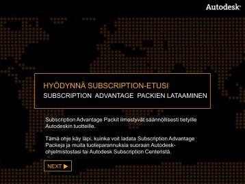 Subscription advantage pack - Cad-Q