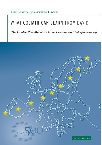 What Goliath Can Learn - europe's 500