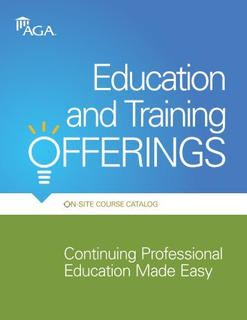 Download the On-Site Course Catalog. - AGA
