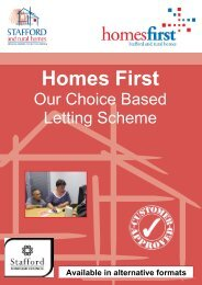 Homes First Customer Leaflet (783.9kb) - Stafford and Rural Homes