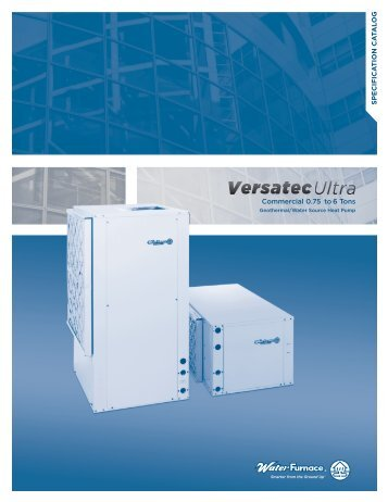 Specification Catalog - WaterFurnace