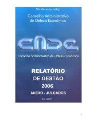 Relatório Anual de Gestão 2006 - Anexo Julgados - Conselho ...