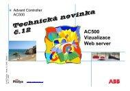 12/2009 - Vzdálený přístup k PLC přes web server - VAE ProSys sro
