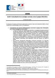 relatif à l'actualisation de la stratégie vaccinale contre la grippe 2010 ...