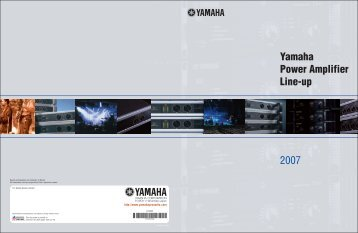 Power Amp Brochure 2.75MB - Yamaha Commercial Audio